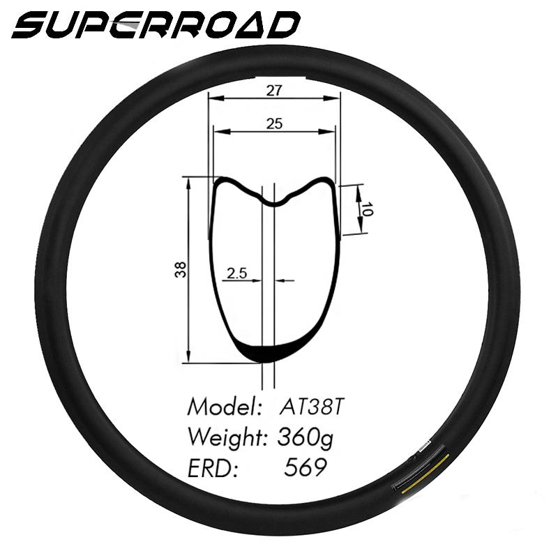 Road Bike Asymmetric Tubular rims